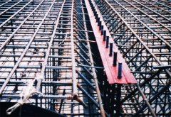 1. 橡胶坝底板基础布置